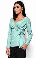 (S, M, L) Вишукана ментолова блузка на зав'язці Sabrina