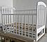 Детская кроватка Ласка-М LAMA поперечный маятник (шиповое соединение), фото 9