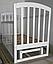 Детская кроватка Ласка-М LAMA поперечный маятник (шиповое соединение), фото 10
