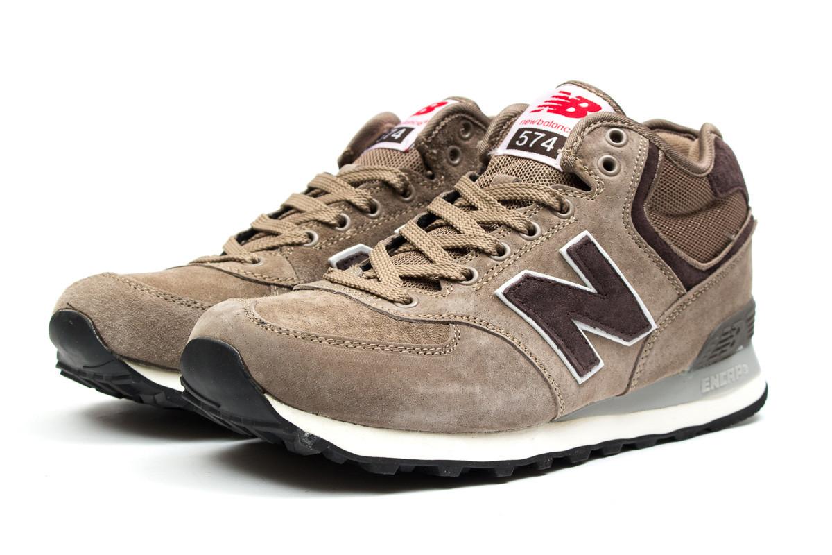 Демисезонные мужские кроссовки New Balance 574 (Нью Беланс 574) коричневые  - реплика 49d6d94c8c7