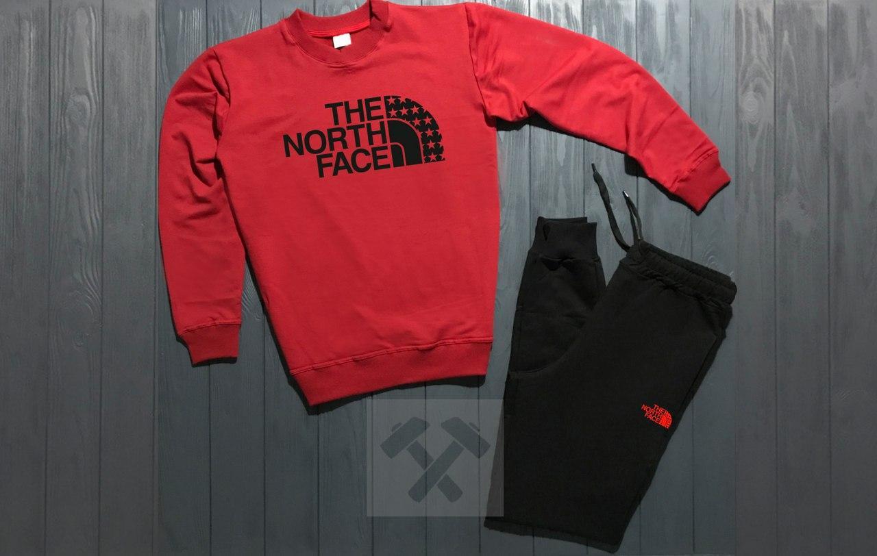Спортивный костюм без молнии The North Face красно-черный топ реплика