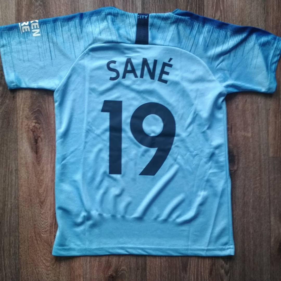Детская футбольная форма Манчестер сити Sane (Сане) 2018-2019 голубая