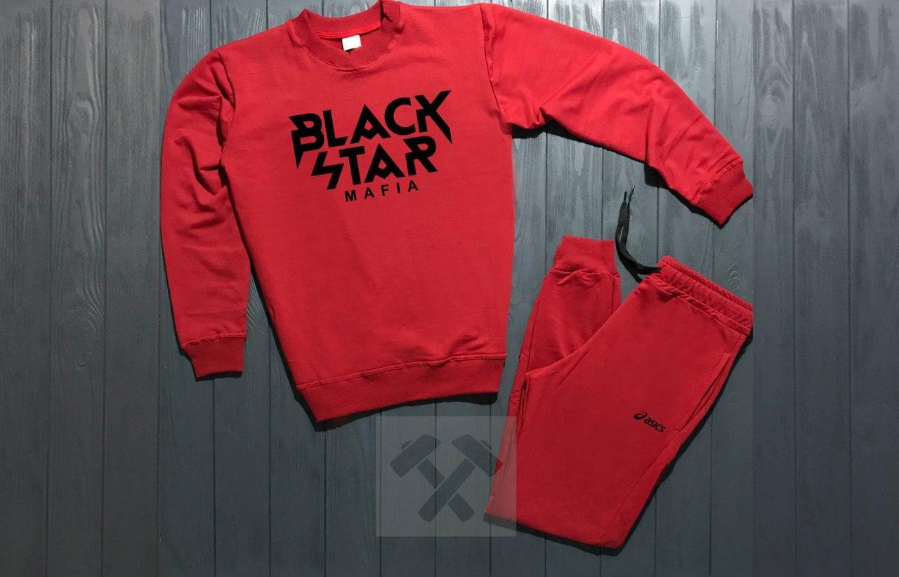 Спортивный костюм без молнии Black Star красный топ реплика