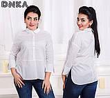 Модная женская строгая рубашка в размерах 42-56, фото 2