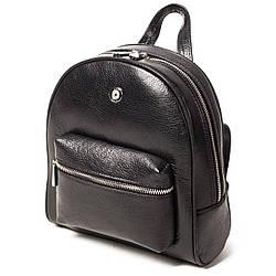 Женский городской рюкзак Karya 0781-45 из натуральной кожи черный