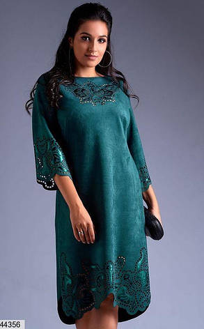 Хит сезона! платье женское нарядное демисезонное эко-замш размеры:52-62, фото 2