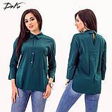 Модная женская строгая рубашка в размерах 42-56, фото 4