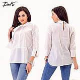 Модная женская строгая рубашка в размерах 42-56, фото 5