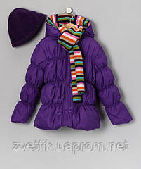 Тепленькая курточка на холодную осень на флисе с шарфиком (Размер  2-3Т) PINK PLATINUM (США)