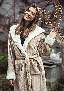 Жіночий довгий халат Key LGL-288 B8 на запах