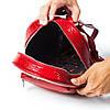 Женский городской рюкзак Karya 0781-019 из натуральной кожи красный , фото 6