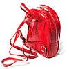 Женский городской рюкзак Karya 0781-019 из натуральной кожи красный , фото 2