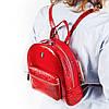 Женский городской рюкзак Karya 0781-019 из натуральной кожи красный , фото 7