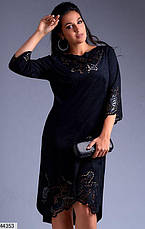 Хит сезона! платье женское нарядное демисезонное эко-замш размеры:52-62, фото 3