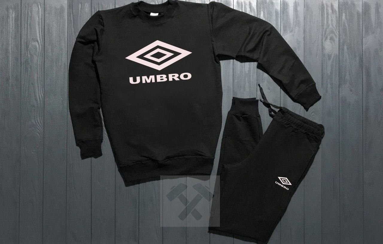 Спортивный костюм без молнии Umbro черный топ реплика