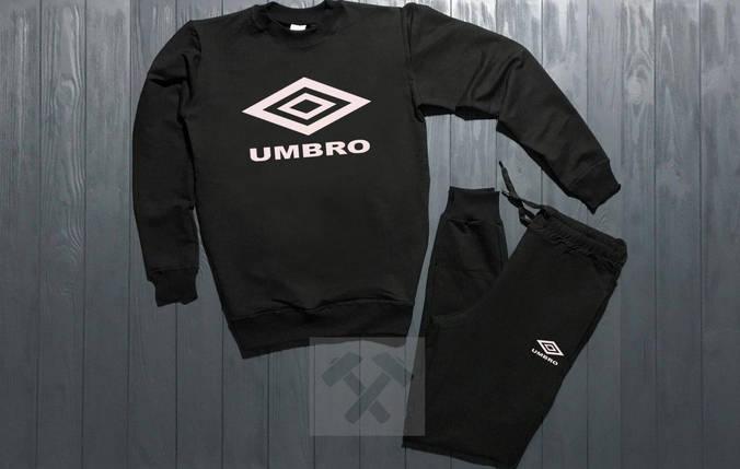 Спортивный костюм без молнии Umbro черный топ реплика, фото 2