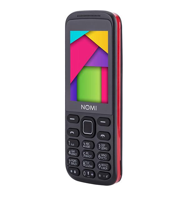 Мобильный телефон Nomi i244 Black-Red