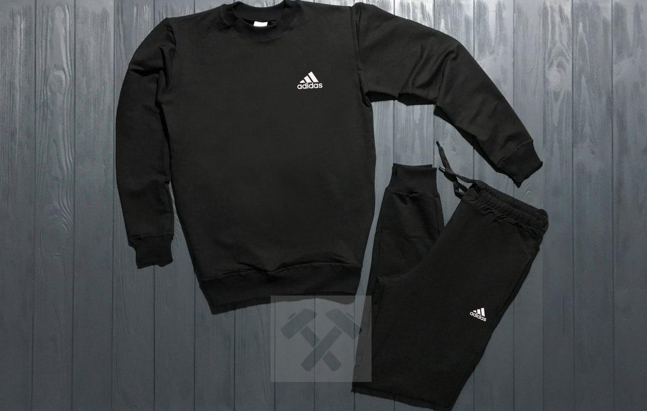 Спортивный костюм без молнии Adidas черный топ реплика