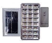 Лампа-фонарь аккумуляторная+солнечная батарея Yajia 9817, 24 LED, E27, пульт д/у