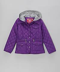 Стильная легкая деми куртка с трикотажным капюшоном (Размер 5-6Т) Dollhouse Америка (США)