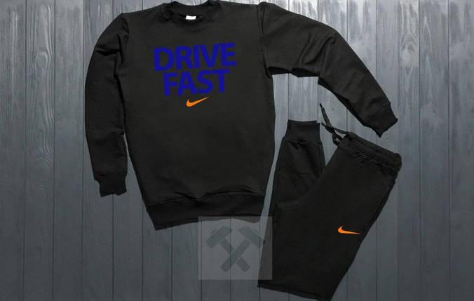 Спортивный костюм без молнии Nike черный топ реплика, фото 2