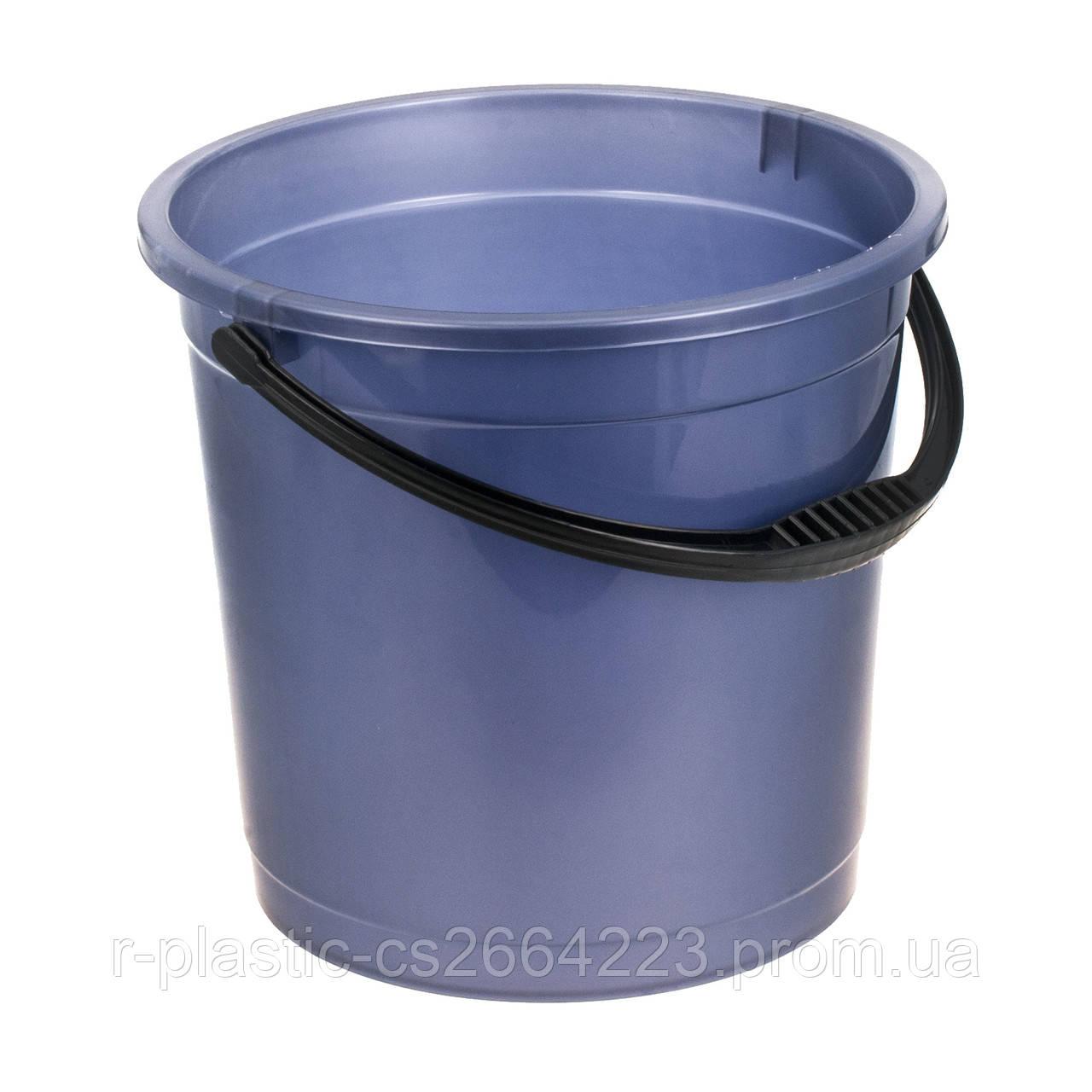 Ведро цветное без крышки 12л R-Plastic фиолетовое