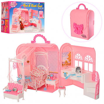 Мебель для кукол в чемодане 9988