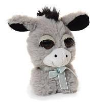 Мягкая игрушка Малышка Глазастик - милашка Ослик, 12 см,10095