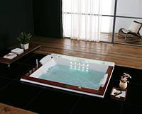 Гидромассажная ванна Golston G-U2606A с панелями, 190х158х77 cм