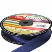 Косая бейка (рулочка) атласная синяя, 2 см. 25 м.