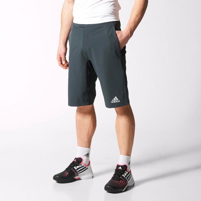 Шорты спортивные мужские adidas Barricade Am Bermuda S09271 (темно-серые, теннисные, перфорация, бренд адидас)