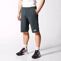 Шорты спортивные мужские adidas Barricade Am Bermuda S09271 (темно-серые, теннисные, перфорация, бренд адидас), фото 1