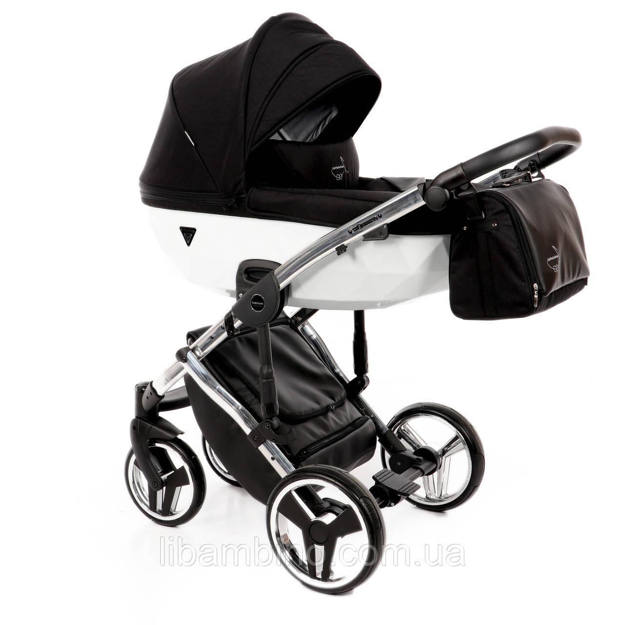 Дитяча універсальна коляска 2 в 1 Junama Diamond S-line White