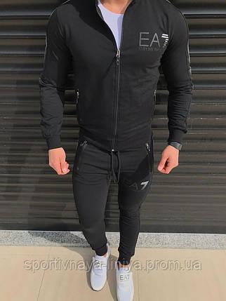 Мужской стильный костюм Armani черный Турция Реплика, фото 2