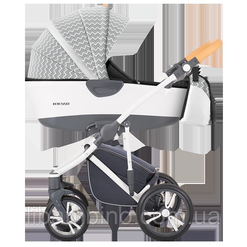 Дитяча універсальна коляска 2 в 1 Bebetto Bresso 13 White