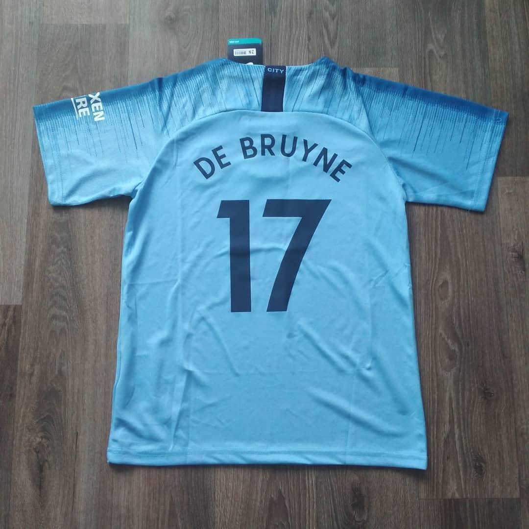 Детская футбольная форма Манчестер сити голубая De Bruyne (Де Брёйне) сезон 2018-2019