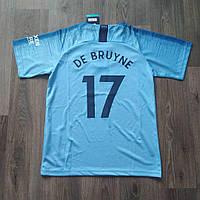 Детская футбольная форма Манчестер сити голубая De Bruyne (Де Брёйне) сезон 2018-2019, фото 1