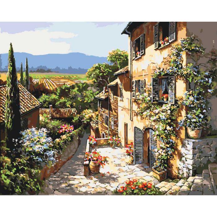 Живопись по номерам Тосканский пейзаж KH2232 Идейка 40 х 50 см