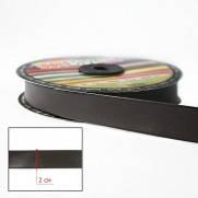 Косая бейка (рулочка) кожзам 2 см. коричневая №752, 10 м.