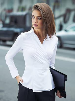 (XS, S, M, L) Вишукана жіноча біла блузка Divalis