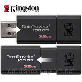 Флешка Kingston Flash Drive DT100 G3 32Gb, USB 3.0, черная, фото 2