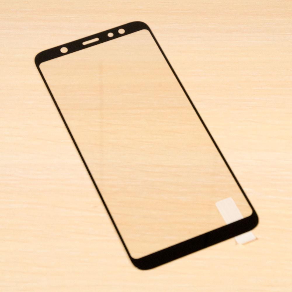 Защитное стекло Silk Screen для Samsung Galaxy A6 Plus 2018 тех.пакет (Black)