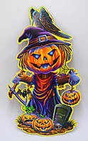 Декор бумажный Тыква Хэллоуин, фото 1