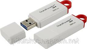 Флешка Kingston Flash Drive DTIG4 32Gb, USB 3.0, белая, фото 2