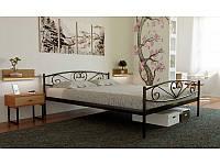 Кровать одноярусная металлическая Milana Метакам для подростков, гостиниц, баз отдыха с изножьем, 80х190(200)