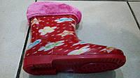 Сапоги резиновые для девочек с утепленным носком, размеры 22-29