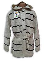 Вязанная кофта кардиган для девочки , фото 1