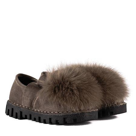 Купить Туфли женские Lifexpert (декорированные мехом, стильные ... 14b4cd13134