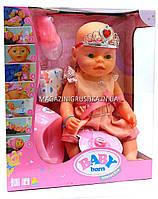 Интерактивная кукла Baby Born (беби бон). Пупс аналог с одеждой и аксессуарами 9 функций беби борн BL018B-S, фото 1