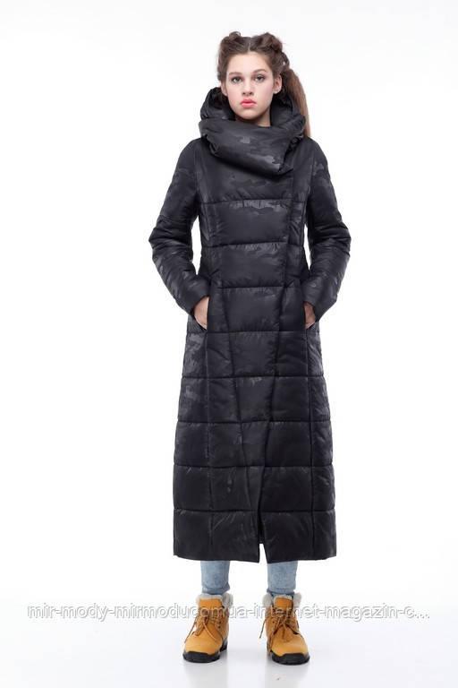 Зимнее пальто Комильфо черный милитари с 44 по 54 размер(ор)